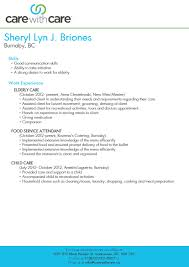 sample child care resume resume for caregiver sample free resume example and writing download senior caregiver care with care canada live in caregiver carewithcare caregiver brione s senior caregiver elderly choose caregiver resume samples