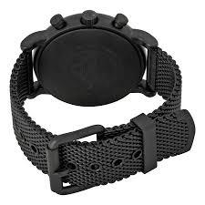black mesh bracelet images Emporio armani men 39 s chronograph luigi black stainless steel mesh jpg