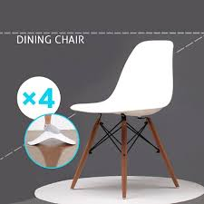 4pcs white style chairs office dining chair ebay