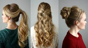 3 holiday hairstyles missy sue youtube