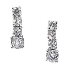 dimond drop madeleine diamond drop earrings ciro jewelry black tie