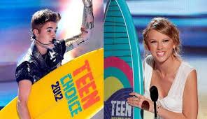 Justin Bieber & Taylor Swift+Teen Choice Awards 2012