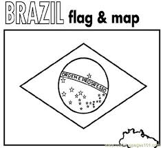perfect design brazil flag coloring page of free printable pages