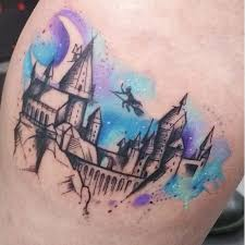 hogwarts harry potter tattoo harry potter tattoos pinterest