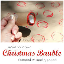 make your own wrapping paper make your own wrapping paper a diy christmas bauble ster
