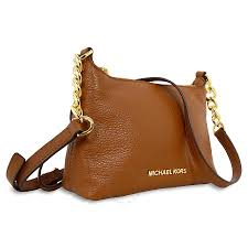 michael kors bedford brown leather crossbody bag bedford