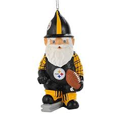 nfl pittsburgh steelers thematic gnome ornament