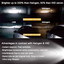 4pcs led hid headlight light bulbs high beam u0026 low beam 6000k
