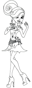 monster high coloring pages frights camera action frights camera action lagoona blue monster high coloring page png
