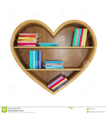 heart shaped book shelf with colorful books heart of knowledge