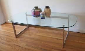 Waterfall Glass Coffee Table by Coffee Table Picked Vintage