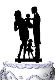 amazon com meijiafei wedding cake topper mom and dad hold baby