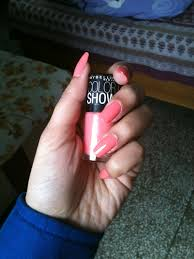 notd maybelline color show nail enamel 211 coral craze teen to
