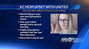 kc woman claims she was forced to in cup on united flight