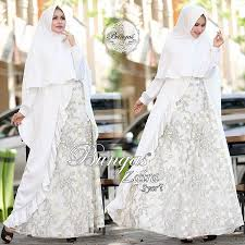 wedding dress syari rumah gamis aisha zaira syar i by bungas