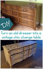Dresser Into Changing Table Turn An Dresser Into A Vintage Chic Change Table This Bird S Day