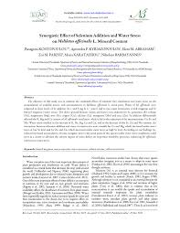 id e canap ap ro synergistic effect of selenium addition and water stress on