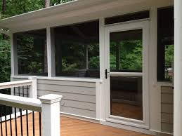 Larson Patio Doors Screen Porch With Side Deck And Larson Door Retractable