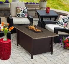 pebble outdoor coffee table outdoor fire pit coffee table carmel chat height with american fire