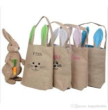 monogrammed baskets easter bunny basket burlap bunny ear blank monogrammed