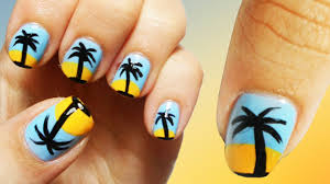 tutorial beauty and the beach summer nail art youtube piggieluv