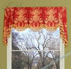 Board Mounted Valance Ideas A Flat Scalloped Valance With Bells U0026 Jabots The Fabric Is Placed