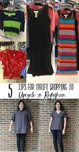 Selling Upcycled Clothing - tips for thrift shopping to upcycle and refashion
