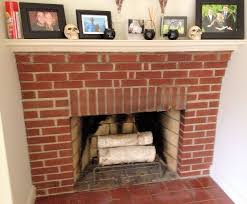 painted brick fireplace the power of whitewash brick fireplace