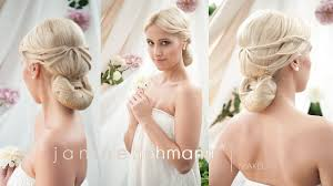 elegant hair style bridal hairdo updo tutorial with hairpiece