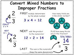 change mixed numbers to improper fractions worksheet u0026 convert