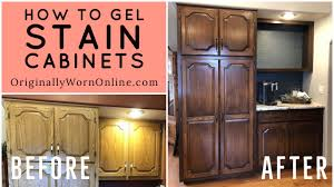 staining kitchen cabinets with gel stain how to gel stain cabinets