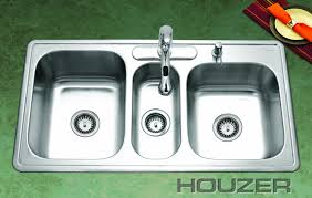 Triple Bowl Kitchen Sinks by Double Basin Pedestal Sink Befon For