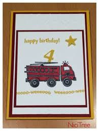 red fire engine and hat thank you note cards halloween fall
