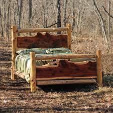 Wooden Log Beds Cedar Log Rustic Bed Niangua Furniture Www Nianguafurniture