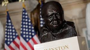 report trump personally asked for winston churchill u0027s bust to be