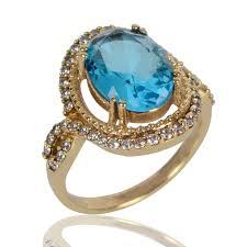 best stone rings images Rings modern design sky blue stone finger ring for women at best jpg
