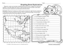 free fun worksheet to practice locating points on a map in order