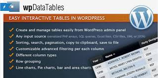 Wordpress Tables The Six Best Plugins For Creating Tables In Wordpress 2017