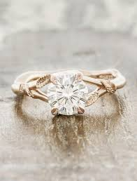 leaf engagement ring pembroke leaf prong diamond engagement ring gold ken