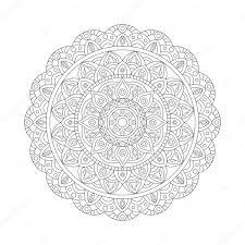 decorative ethnic mandala outline isolates ornament vector