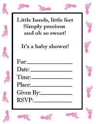 baby shower invitation blank templates girls cloveranddot com