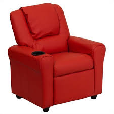 Faux Leather Recliner Kids Faux Leather Recliner In Red Dg Ult Kid Red Gg
