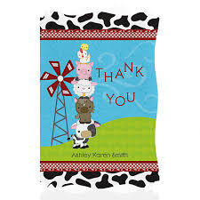 farm animal baby shower thank you cards baby shower thank you