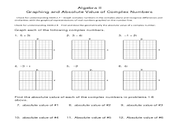 graphing complex numbers worksheet free worksheets library