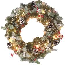 pre lit decorated wreaths lighted decorated wreaths