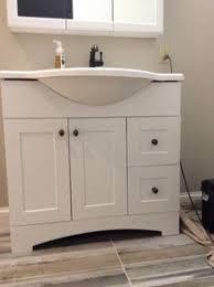 Glacier Bay Bathroom Cabinets Glacier Bay Lancaster 36 In W X 19 In D Bath Vanity In Amber