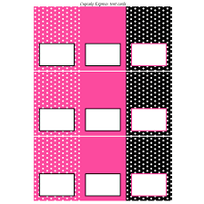 minnie mouse printable tent cards pink