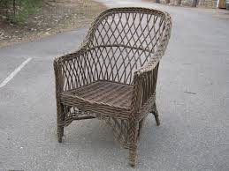 Antique Round Wood Chairs With Cushion Furniture Vintage Rattan Chair