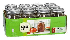 ball mason ball 16 oz pint regular mouth mason jar set of 12 rawlicious