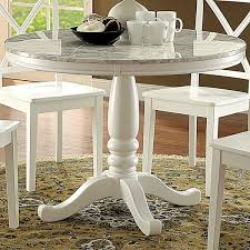 country style dining table furniture of america laine country style faux marble white round